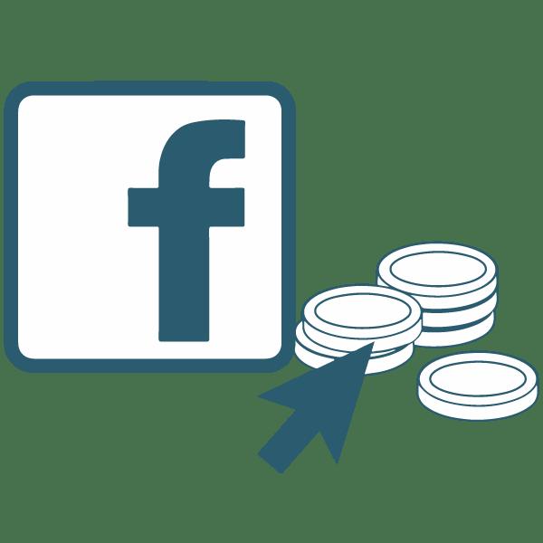 Ikon af Facebook annoncering