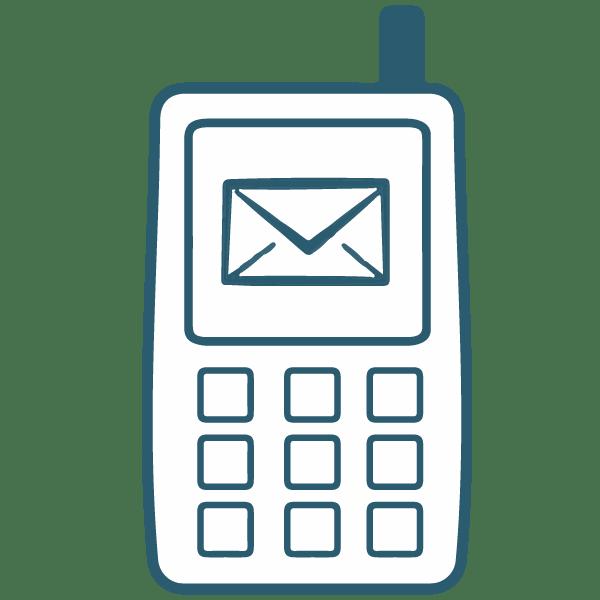 Ikon af mobil marketing